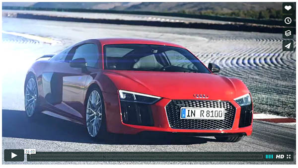 Supercar-2016 Audi R8 V10 plus - Second Generation Audi Sports Car